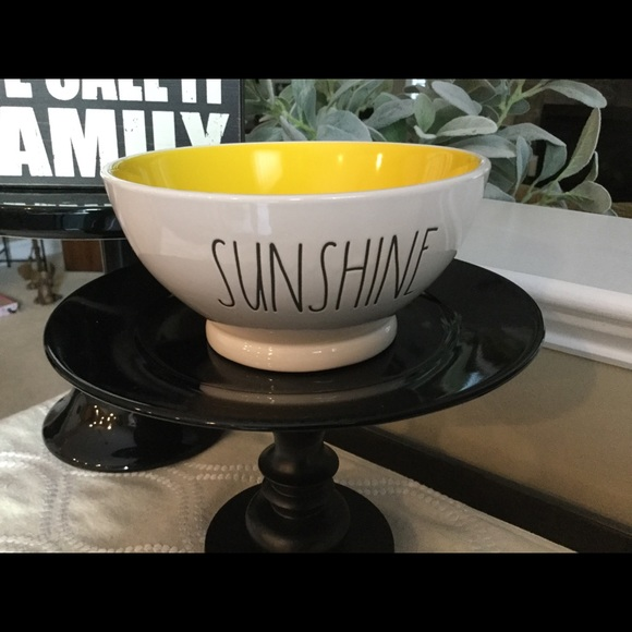 Cereal Bowl Yellow Interior Rae Dunn by Magenta SUNSHINE Ice Cream
